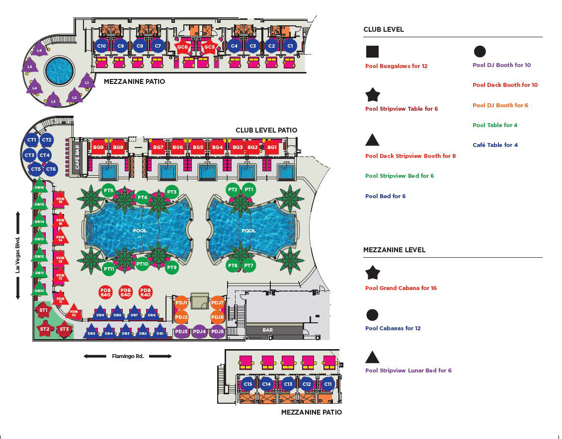 Drai S Beach Club Table Cabana Floor Plan Drais
