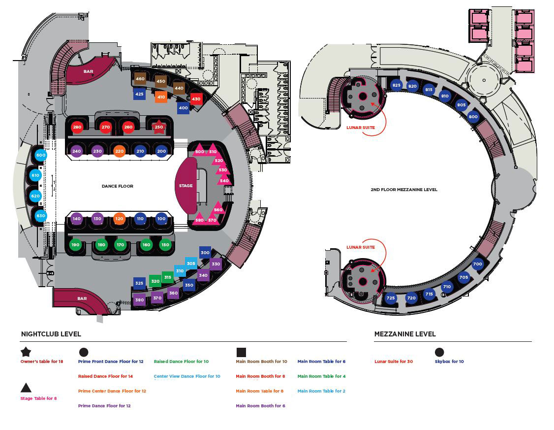 Bottle Service on Nightclub Bar Design Floor Plans