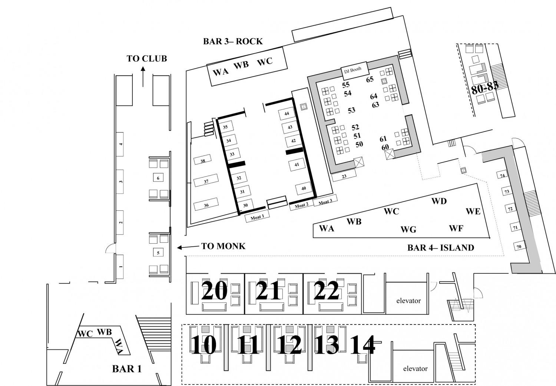 Tao bottle service discotech the 1 nightlife app for Floorplan or floor plan
