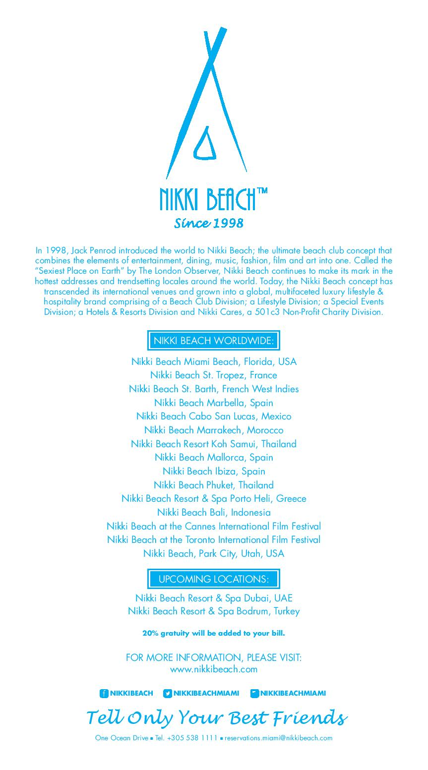 Nikki Beach Tickets Miami