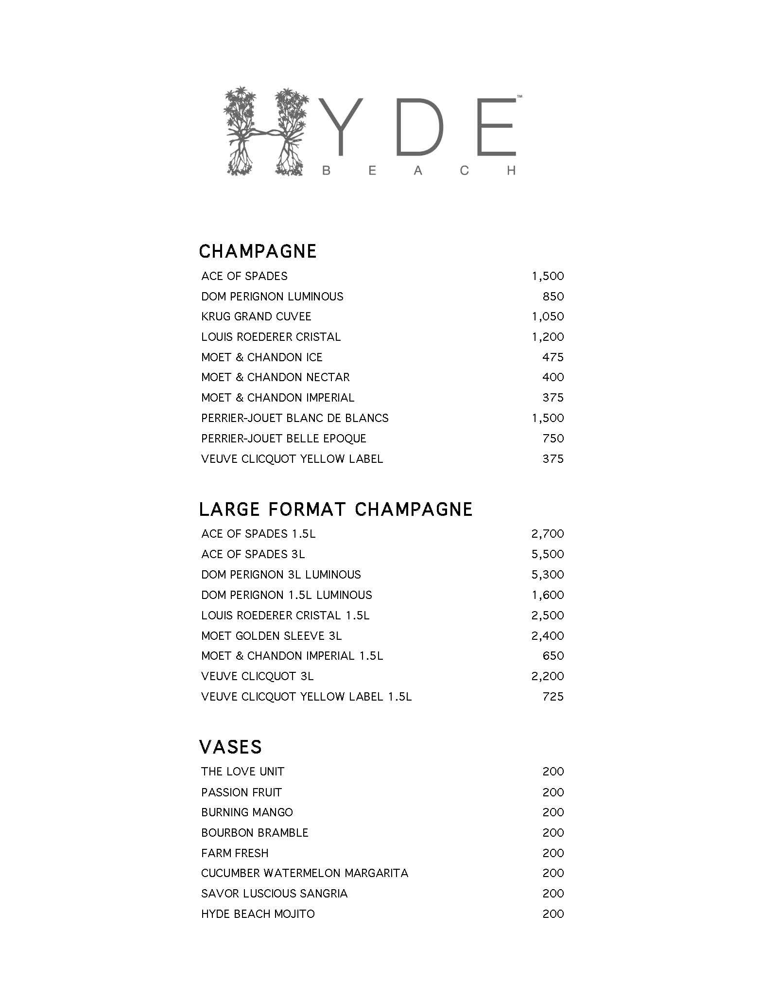 Hyde Beach Bottle Service Discotech The 1 Nightlife