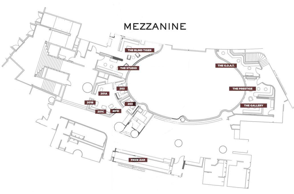 Jewel bottle service discotech the 1 nightlife app for Mezzanine floor plan