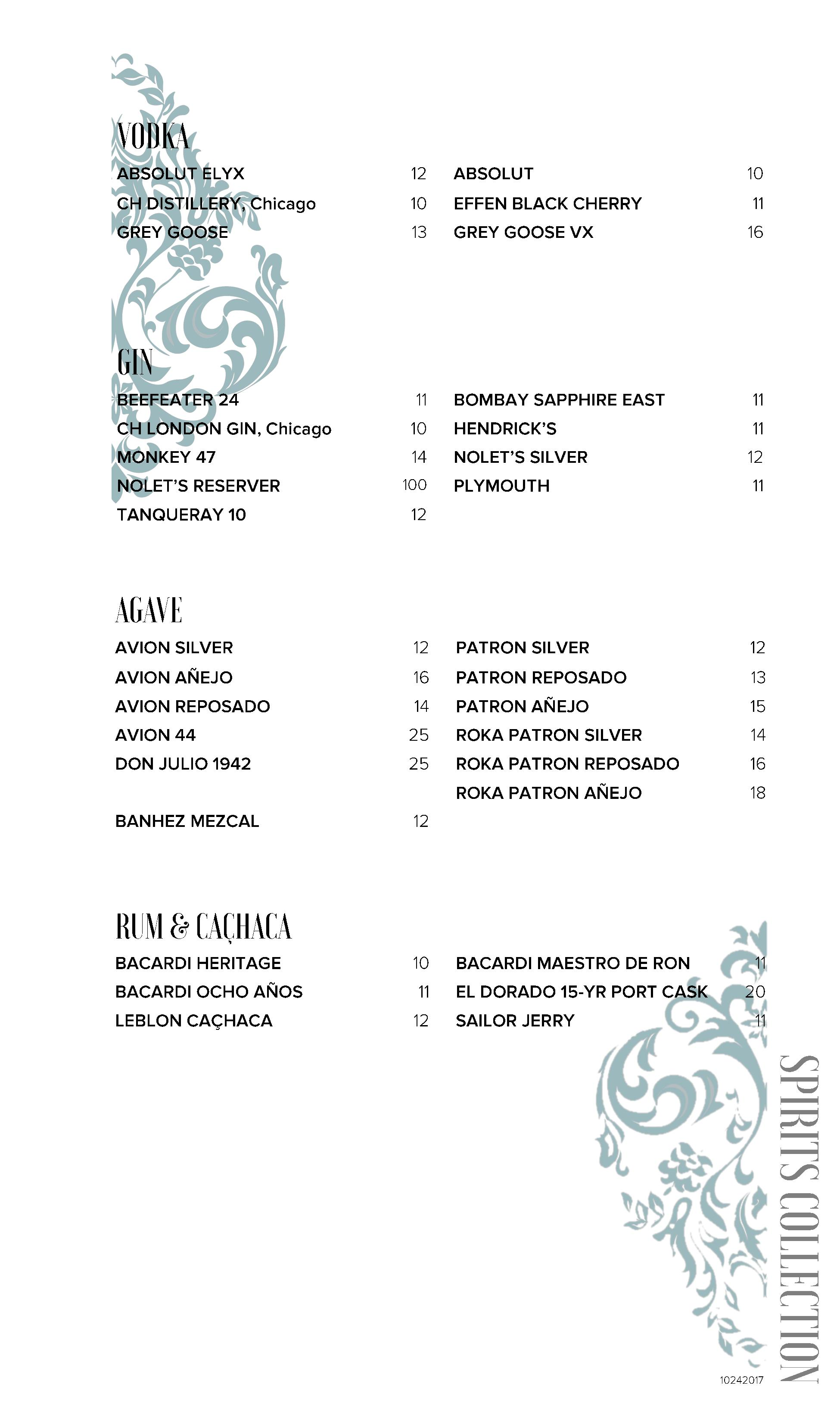 Roof On TheWit Bottle Menu. Download ...