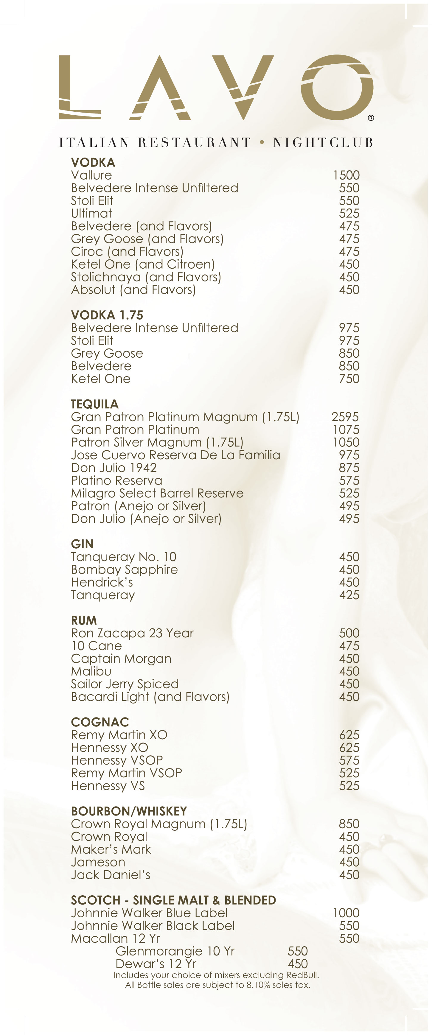 Custom thesis menu