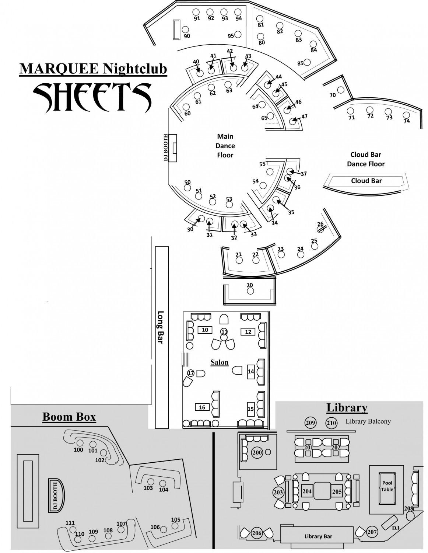 marquee las vegas map